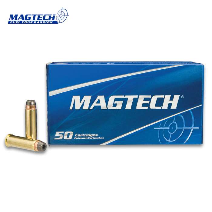 Magtech .357 Magnum 158gr Semi Jacketed Hollow Point Ammunition - Box of 50 Rounds - Military Law Enforcement Competition Target Match Grade Revolver