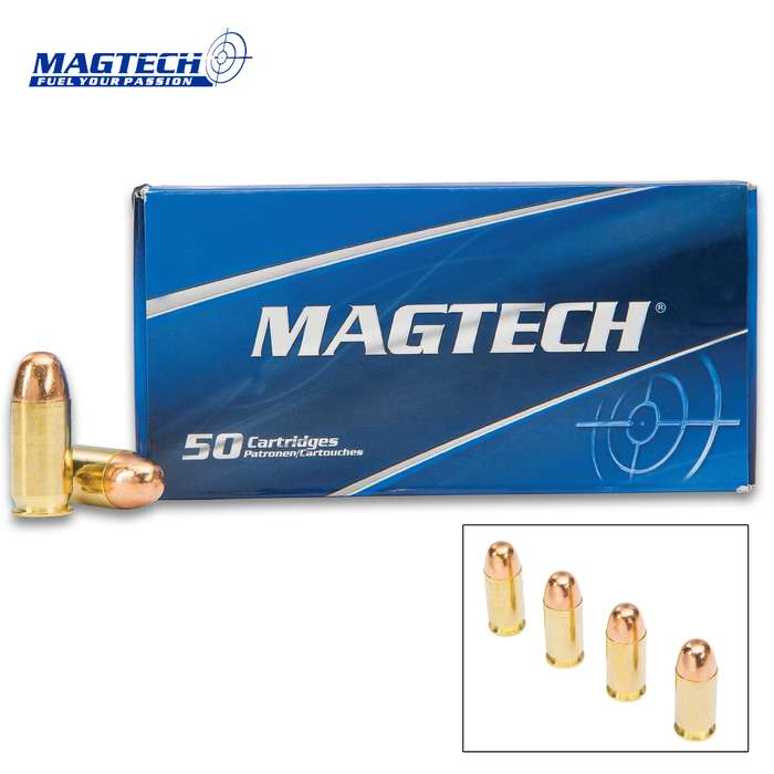 Magtech .45 Automatic / 230gr Full Metal Jacket (FMJ) Ammunition - Box of 50 Rounds - Military Law Enforcement Competition Target Match Grade