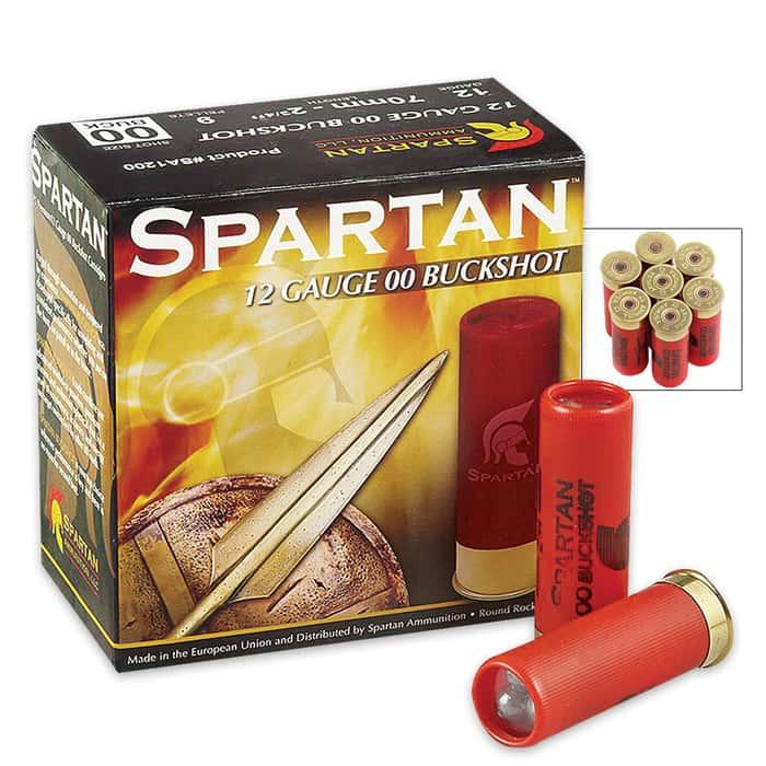 Spartan 12 Gauge 00 Buckshot 25 Rounds