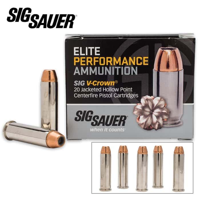 SIG Sauer Elite V-Crown .357 Magnum 125gr JHP Ammo - Box of 20