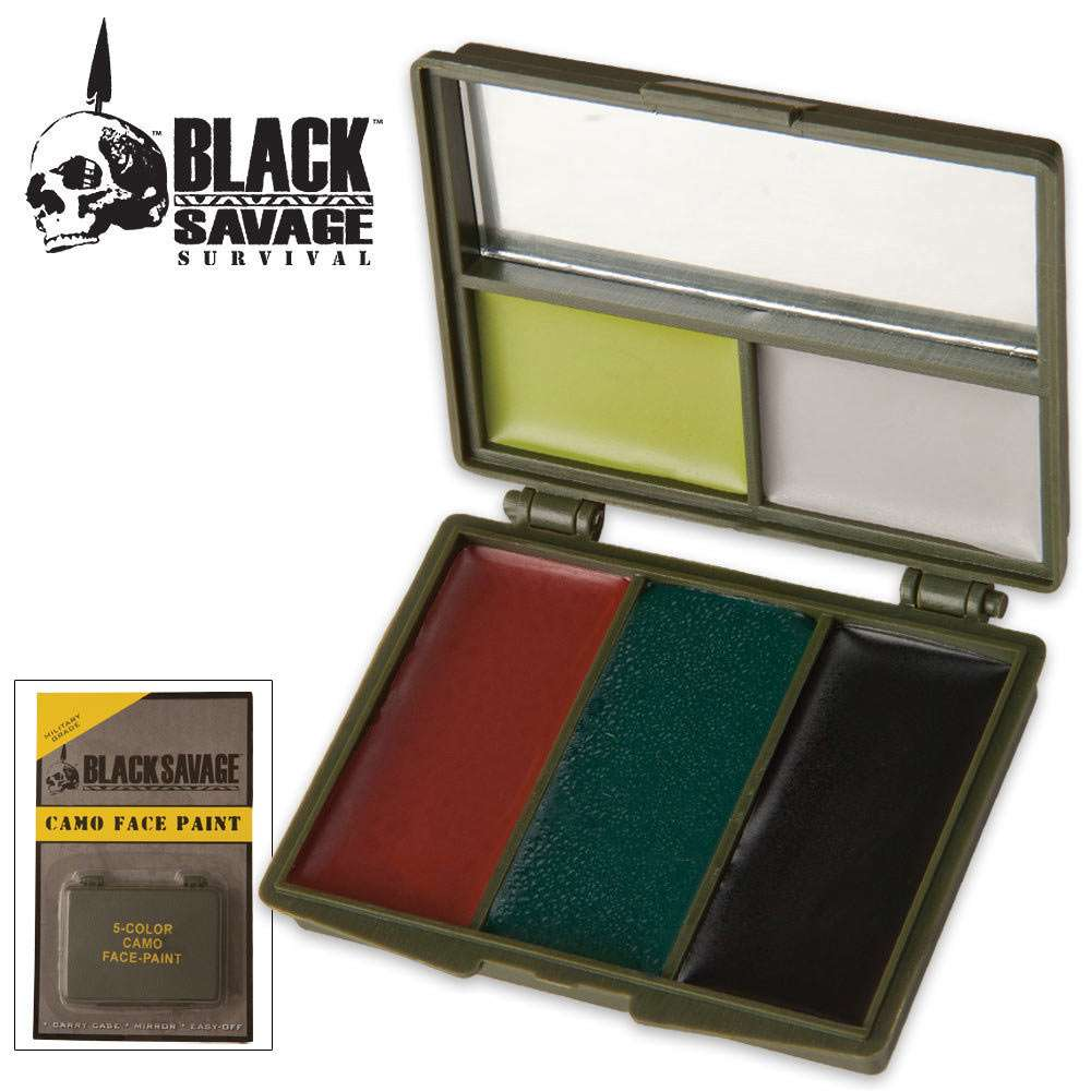 5 Color Hunting Camo Face Paint Kit