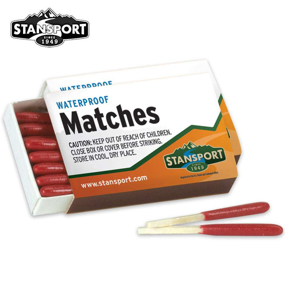 WINDPROOF SURVIVAL FIRE STARTING NON TOXIC MATCHES PACK OF 4 BOXES WATERPROOF