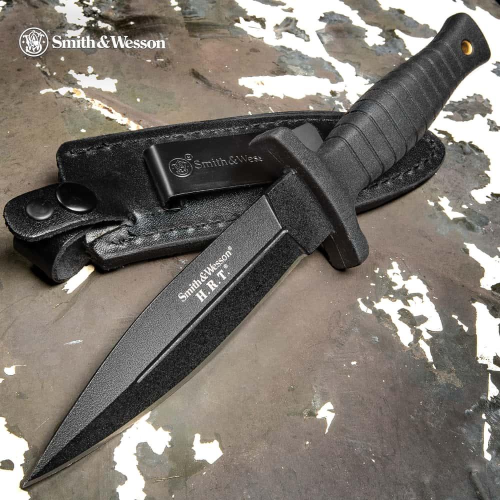 Smith/&Wesson HRT Military Boot Black SWHRT3 Outdoormesser Jagdmesser