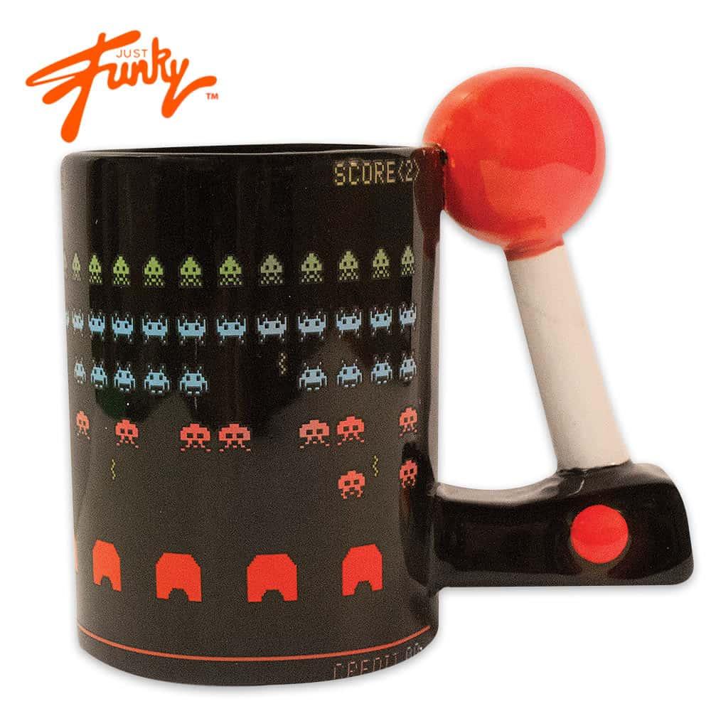 Space Invaders Joystick Coffee Mug With Joystick