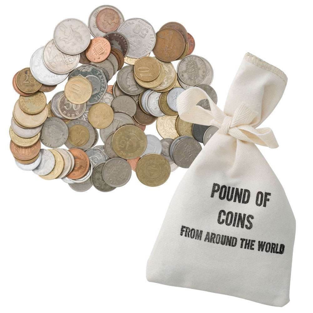 5 LBS Five pounds Foreign World Coin Mix Lot of coins from around the world
