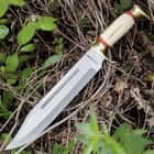 Timber Rattler Swamp Gator Hunter Bowie Knife & Leather Sheath