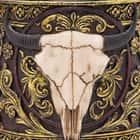Western Spirit Fantasy Longhorn Cow Skull Coffee Mug Tankard