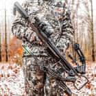 It has a Chaos Woodland Camo enhanced Micro-Lite aluminum barrel and 3 1/2 lb KillerTech trigger for proven accuracy