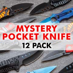Mystery Bag Deal - Set Of Brand New Pocket Knives, Variety Of Styles, Guaranteed Value - Twelve Pack