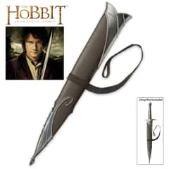 "United Cutlery The Hobbit Scabbard for Sting Sword - Genuine Leather Wrapping, Leather Belt Strap - Fits Licensed Versions Of Sting Sword - 18 3/4"" Length"