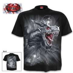 Dragon's Cry Black T-Shirt - Top Quality 100 Percent Cotton, Original Artwork, Azo-Free Reactive Dyes