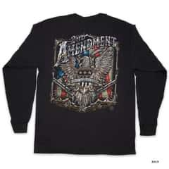 Second Amendment Eagle Silver Foil T-Shirt - Long-Sleeve