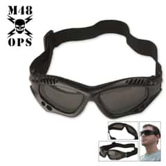 M48 OPS Tactical Goggles Black