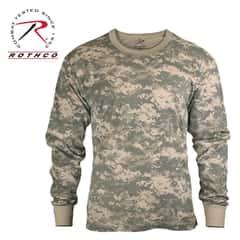 Rothco Long Sleeve T Shirt ACU Digital Camo Pattern