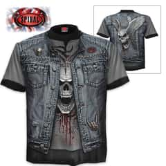 Black Thrash Metal Wrap - Allover T-Shirt