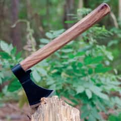 Wood Handled Throwing Hatchet - Axe