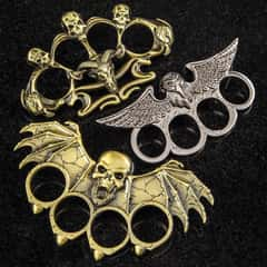 Gothic Paperweights - Crafted Of Stainless Steel, Solid Knuckle Duster Design, Variety Of Designs