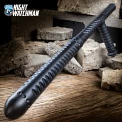 Night Watchman Tac-Tonfa Baton - Solid One-Piece Polypropylene Construction, Grippy Handle - Length 23 1/2""