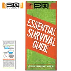 BugOut Essential Survival Quick Reference Guide - Compact Folding Guide, Laminated, Detailed Illustrations, Easy-To-Follow Instructions