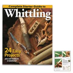 "Complete Starter Guide To Whittling - Paperback, Detailed Instructions, Illustrations And Photos, 96 Pages - Dimensions 7 1/2""x 9"""