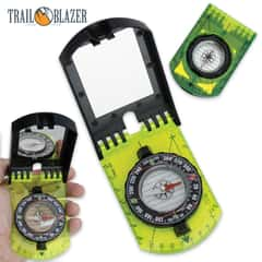 Multi-Functional Survival Compass with Signal Mirror
