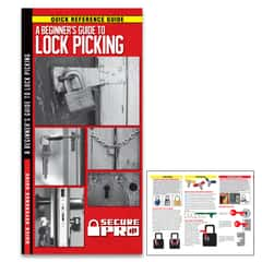 Secure Pro A Beginner's Guide To Lockpicking - Compact Folding Guide, Laminated, Detailed Illustrations, Easy-To-Follow Instructions