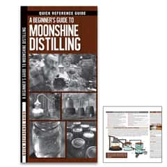 A Beginner's Guide To Moonshine Distilling Folding Guide - Laminated, Compact, Illustrated, Step-By-Step Instructions