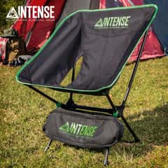 "Intense Ultralight Folding Camping Chair With Carry Bag - Aluminum Frame, Oxford Cloth Seat, Water-Resistant - 26"" Tall"