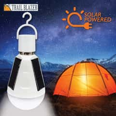 Trailblazer LED Solar Emergency Hanging Light Bulb - 7 Watts, Energy Efficient, ABS Construction, 500 Lumens   - Length 5 4/5""