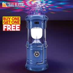 "Trailblazer Magic Camping Lantern - Six LEDs, Three Color LEDs, Aluminum Base, Three Lighting Modes, USB Power Output Port - Dimensions 7 1/2""x 3 1/2"" - BOGO"