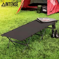 "Intense Ultra-Light Portable Cot With Carry Bag - Aluminum Alloy And Polyurethane-Coated 410D Oxford Polyester - Dimensions 74 1/2""x 25 1/2""x 8 7/10"""