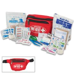 Elite Hikers First Aid Kit - Three Compartments, Easy Access To Supplies, First Aid Supplies Specific To Hiking Injuries