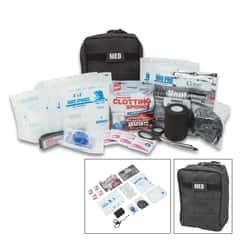 Elite Gunshot Trauma Kit - MOLLE Compatible, Lightweight, First Aid Supplies Specific To Gun Shot Wounds