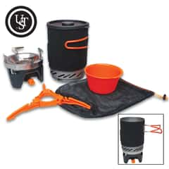 The UST Pack a Long Stove Kit is ideal for cooking when you're camping or hiking and includes a mesh bag for easy carry and storage