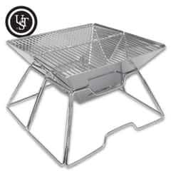 A hot meal is never far away with the space-saving UST Pack-A-Long Grill