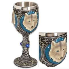 Call-of-the-Wild Fantasy Wolf Goblet