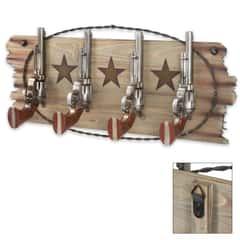 Wild West Revolver Hook Organizer - 4 Hooks
