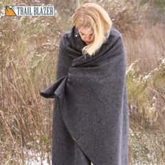 """Trailblazer Wool Blanket - Gray -51"""" x 80"""" - 2 Pounds - Heavy and Warm"""