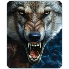 Wolf Portrait Faux Fur Blanket - Queen Size