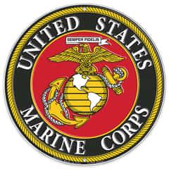 """US Marines Logo 12"""" Round Aluminum Sign"""