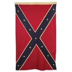Antiquated Tea-Stained Cotton Confederate Battle Flag