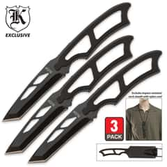 High Tech Survivor 3 Piece Neck Knife Set