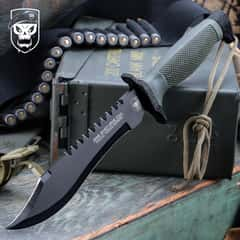 SOA One Shot, One Kill Survival Bowie Knife And Sheath