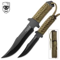 SOA Liberator 2-Piece Knife Set with Nylon Belt Sheath
