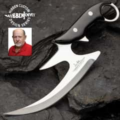 Gil Hibben Reaper Karambit Knife With Sheath - 5Cr13 Stainless Steel Blade, Pakkawood Handle Scales, Stainless Steel Pins - Length 10 1/8""