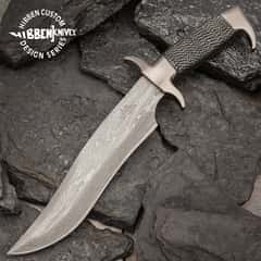 Gil Hibben Highlander Bowie Damascus with Sheath