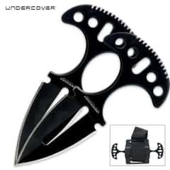 United Cutlery Undercover Black Twin Push Daggers