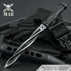 M48 Cyclone Fixed Blade Knife with Custom Vortec Sheath