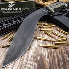 """USMC Fallout Tactical Kukri With Sheath - 3Cr13 Steel Blade, Full-Tang, Grippy G10 Handle, Officially Licensed - Length 16"""""""