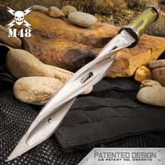 M48 Battle Scarred Series Desert Tan Cyclone - Cast Stainless Steel Blade, Reinforced Nylon Handle, Stainless Steel Guard